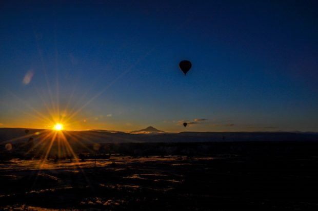 Hot air ballooning in Cappadocia.