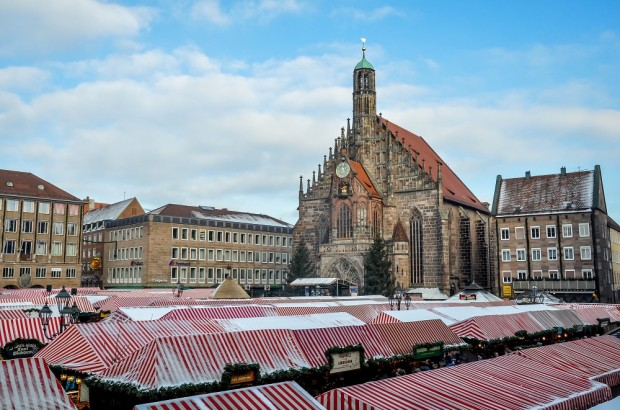 Main square of the Nuremberg Christmas market