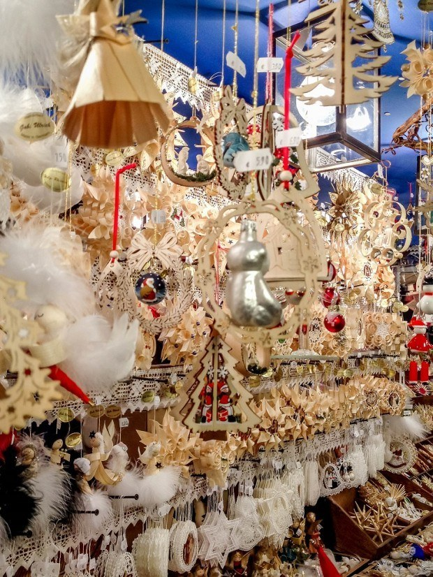 Woods ornaments at the Nuremberg Christmas market in Germany