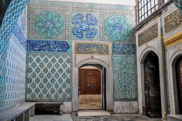 Inside the harem of the Topkapi Palace in Istanbul.