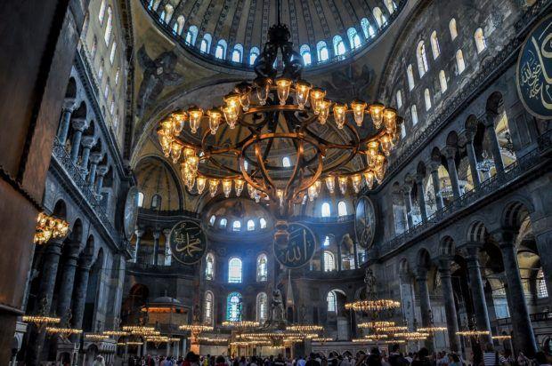 Istanbul's Hagia Sophia mosque.