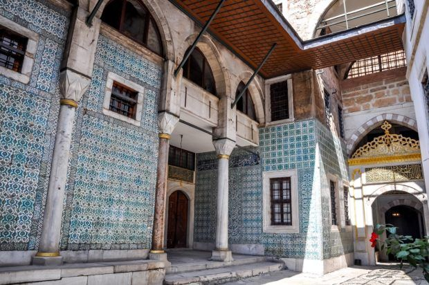 The inner harem of the Topkapi Palace Museum in Istanbul, Turkey.