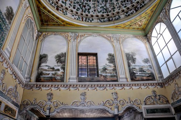 Details in the royal apartment at the Topkapi Palace.