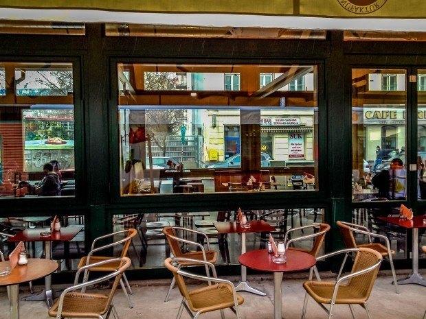 Restaurant at Naschmarkt Vienna, Austria