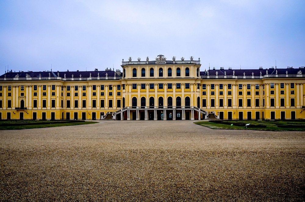 Vienna's Schonbrunn Palace and courtyard