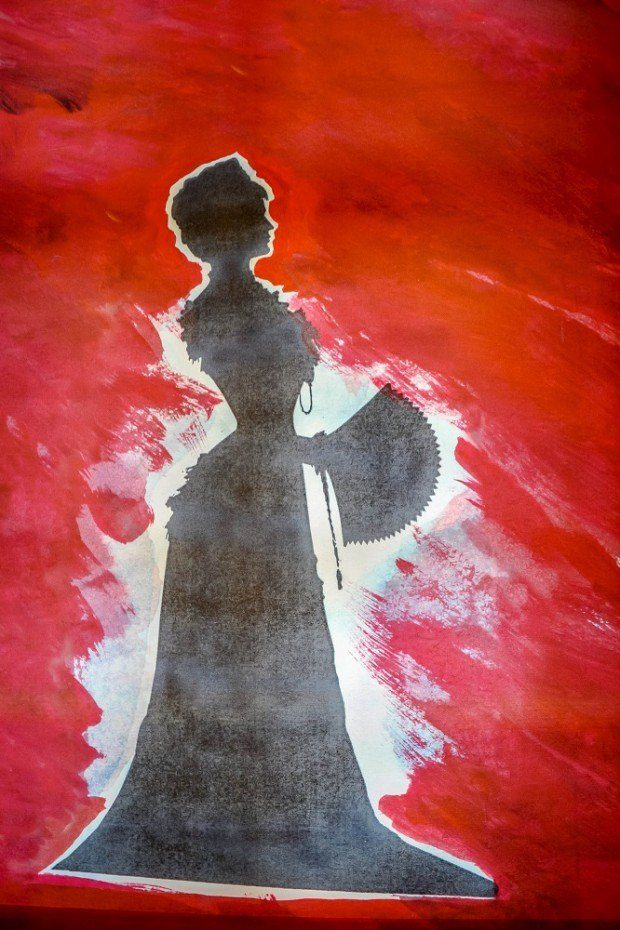 Silhouette of Empress Elisabeth of Austria (Sisi) at the museum dedicated to her within the Hofburg Palace in Vienna