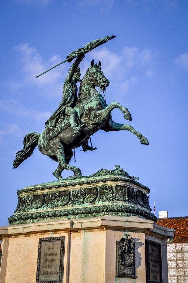 Statue at the Hofburg Palace complex in Vienna, Austria