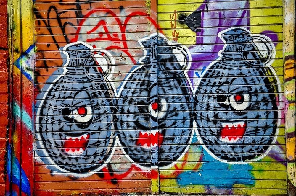 Grenades in Graffiti Alley Toronto