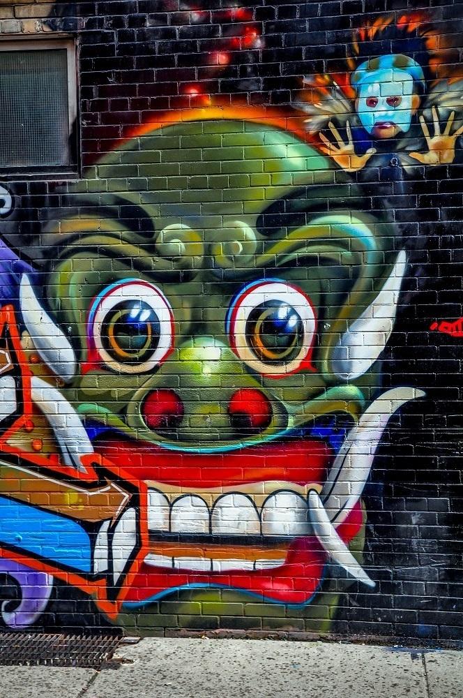 Street art in Toronto's Graffiti Alley
