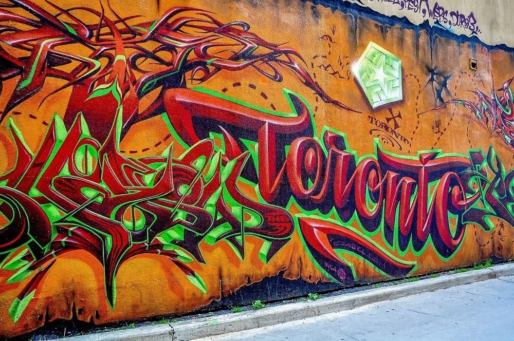 """Toronto"" street art in Graffiti Alley"