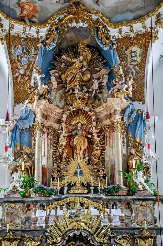 The gilded altar of Andechs monastery