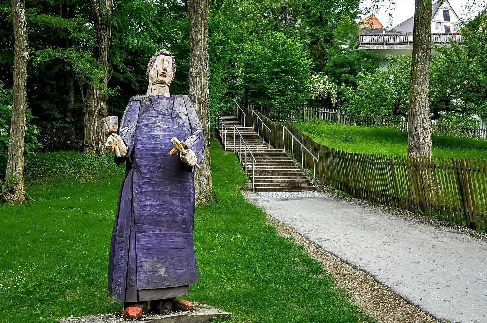 Sculpture outside Andechs monastery