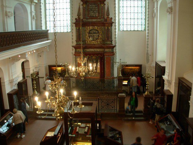 Inside the Klausen Synagogue Museum within the Prague Jewish Quarter