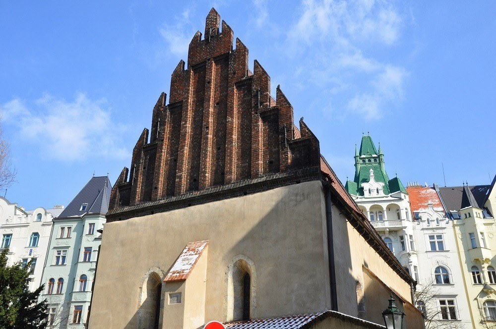 The Old-New Synagogue in the Prague Jewish Quarter