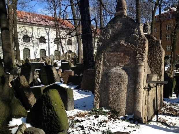 The Old Cemetery in the Prague Jewish Quarter