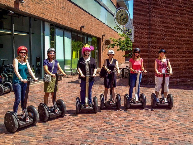 Heading out on a tour with Segway of Toronto