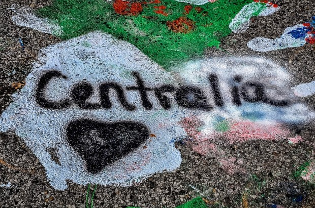 """Centralia"" graffiti on highway 61 in Centralia Pennsylvania"