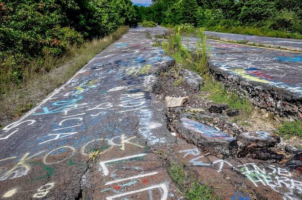 Old highway 81 in Centralia Pennsylvania