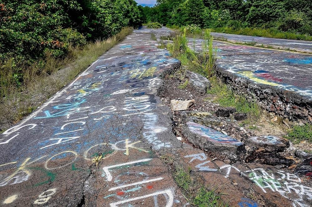 Old highway 81 in Centralia Pennsylvania