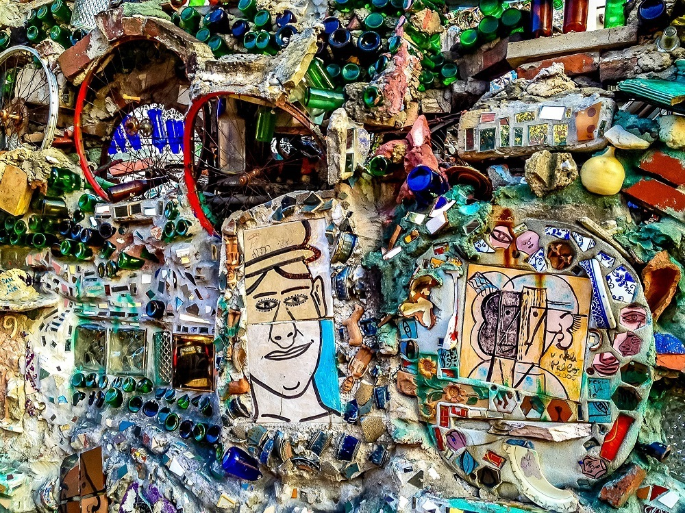 Unusual, multi-colored mosaics at Philadelphia's Magic Gardens