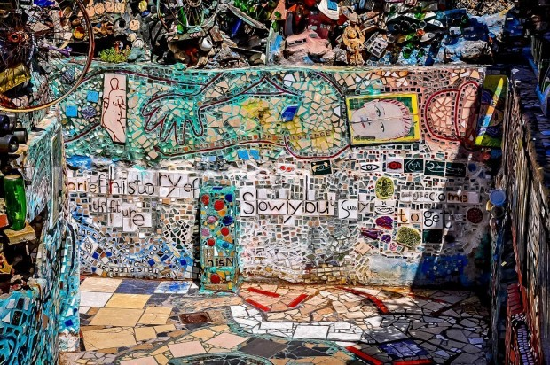 Brightly-colored mosaic at the Magic Gardens - Philadelphia museums