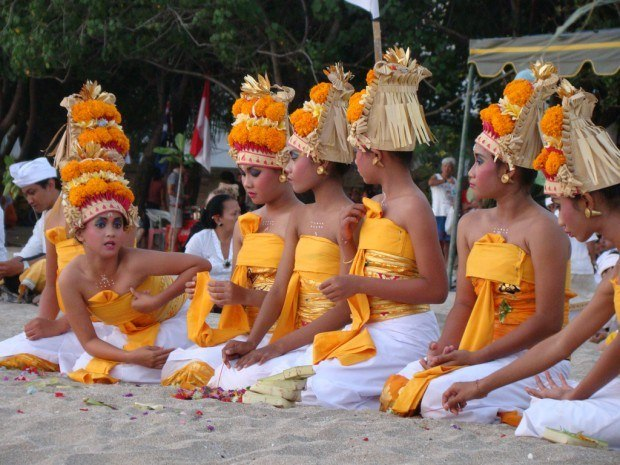 Ceremony for Tourists in Kuta, Bali, one of the most overrated travel destinations