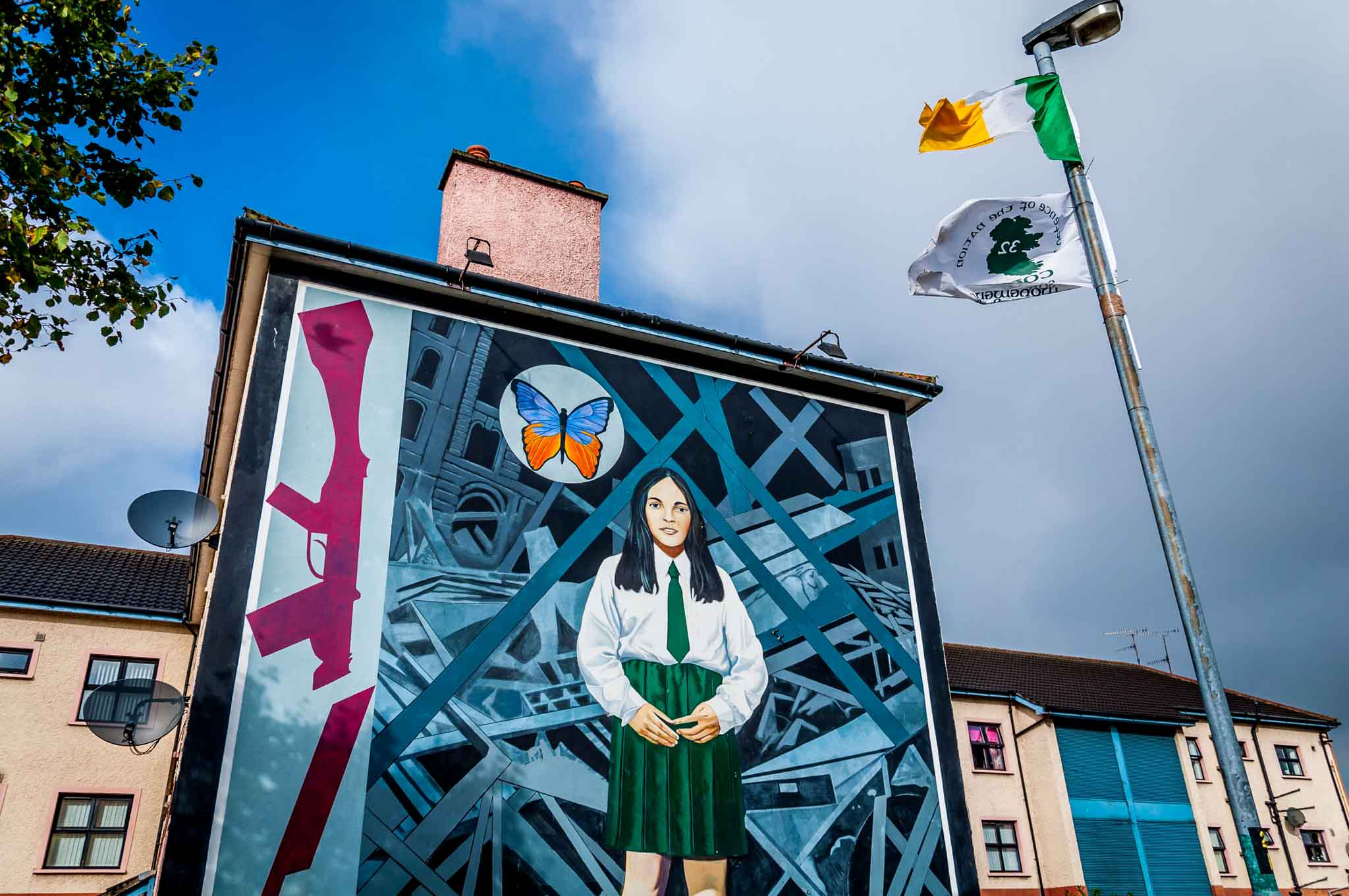 End of Innocence, one of the Derry murals of Northern Ireland