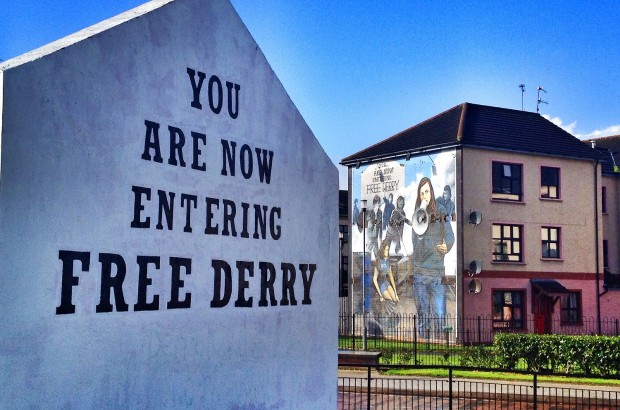 You Are Now Entering Free Derry, the most famous Derry mural
