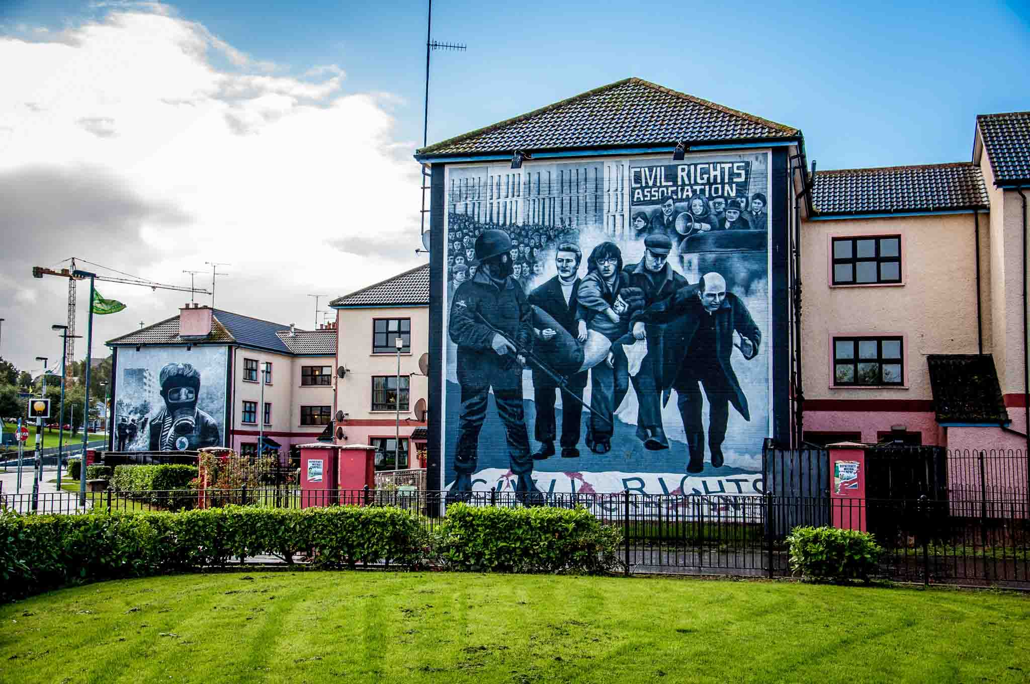One of the Derry murals commemorating the events of Bloody Sunday