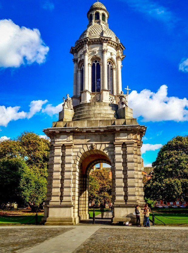 Gate of Trinity College. This Dublin institution is a must visit on an Ireland itinerary 8 days