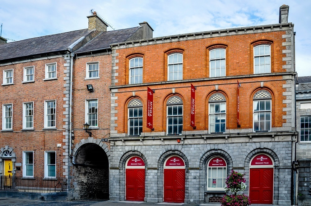 Front of Smithwick's Brewery in Kilkenny