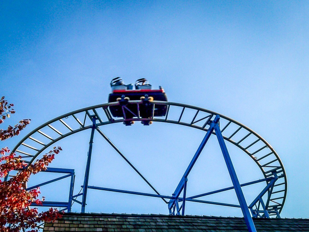Roller coaster at Hershey Park