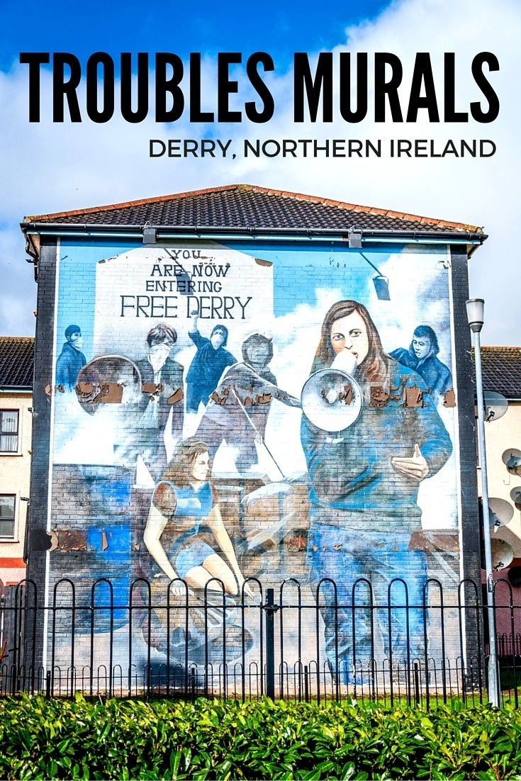 The murals in Derry, Northern Ireland, offer moving depictions of the time known as