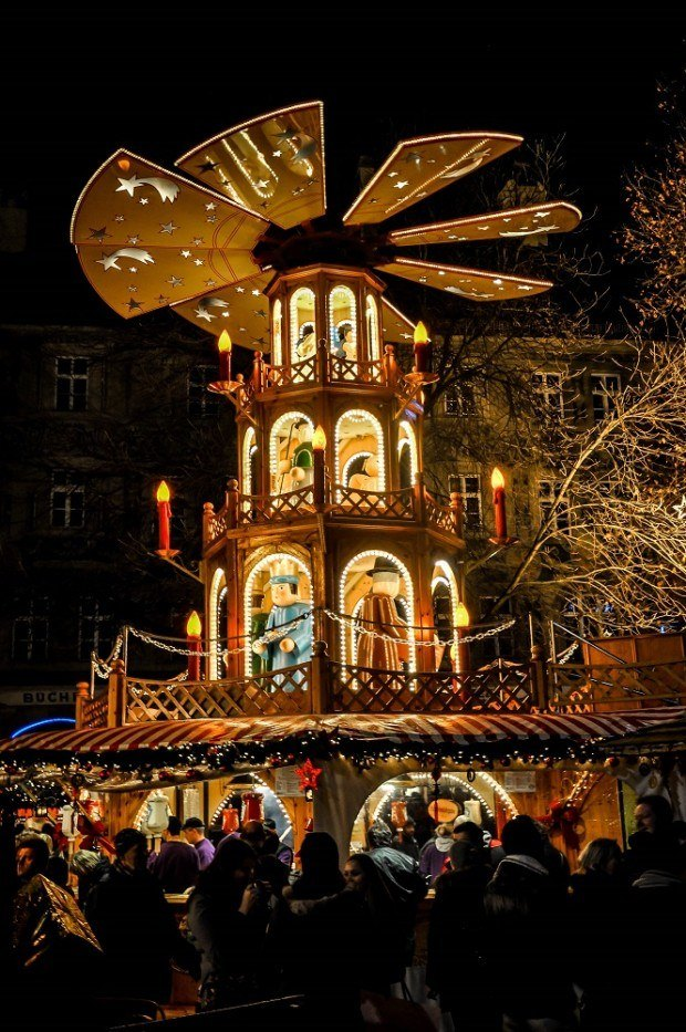 Even the food stalls are elaborate at the German Christmas markets