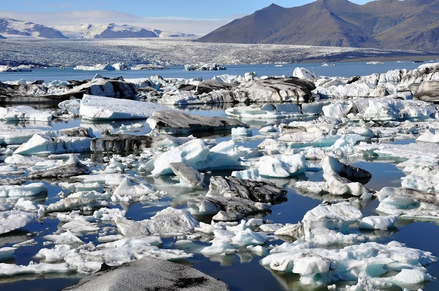 Icebergs in the jokulsarlon Glacier Lagoon in Iceland