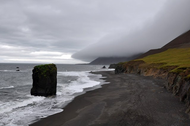 The rock formations along the black sand beaches of the Dryholaey Nature Reserve is a common sight on most Iceland itineraries.