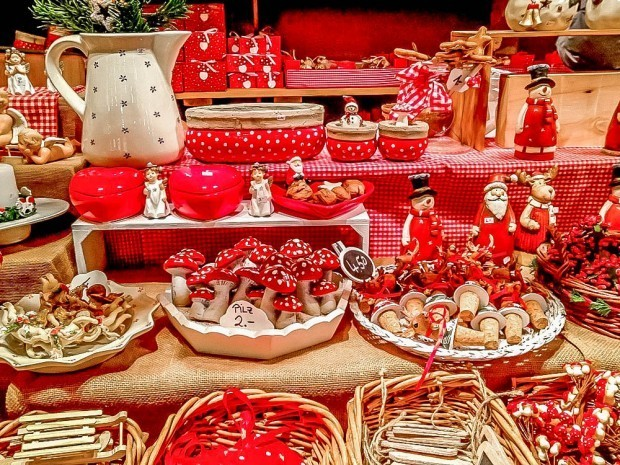 Ornaments and figurines at German Christmas markets