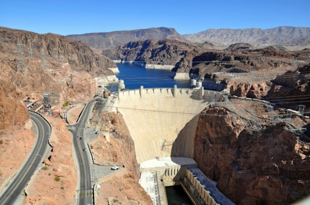 Hoover Dam from the Bypass, Nevada, Arizona