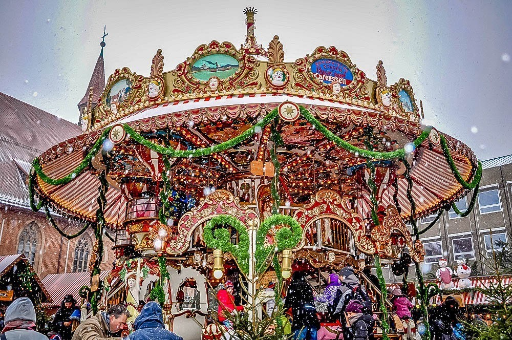 Carousel in Nuremberg, the top German Christmas market