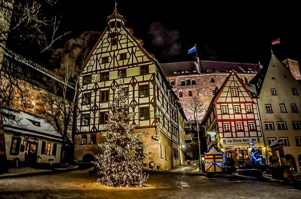 Decorations and half-tiber buildings in Nuremberg