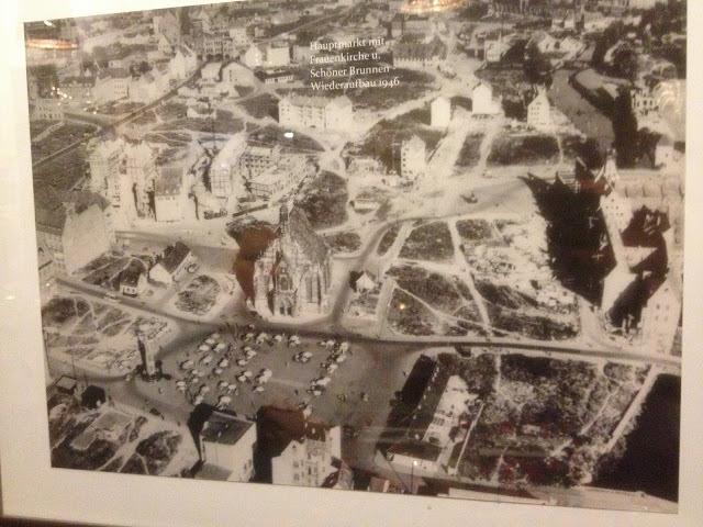 Aerial view of Nuremberg after World War II