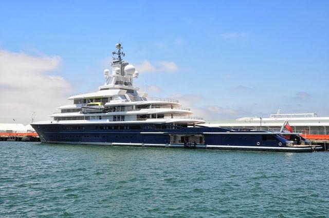 Roman Abramovich's Motor Yacht Luna (M/Y Luna) in all it's glroy in San Diego Harbor.