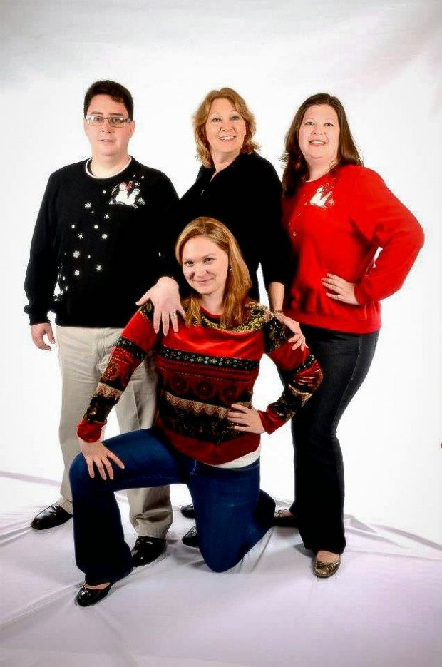 Awkward family photos meets ugly Christmas sweaters