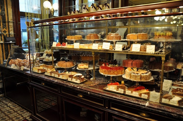 The Pastry Case at Café Demel in Vienna.