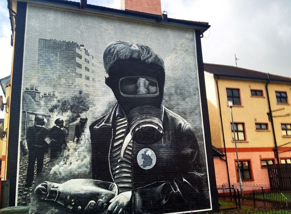 Bloody Sunday mural, a critical stop on a Northern Ireland driving itinerary