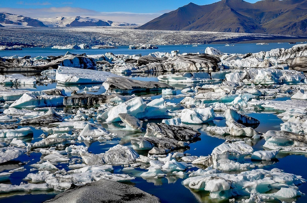 Iceberg-filled lagoon, Jokulsarlon, a must-see on any Iceland itinerary