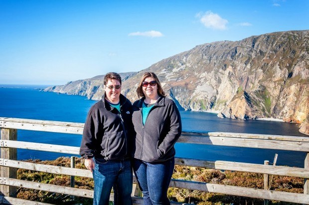 In County Donegal, Ireland at the Slieve League Cliffs
