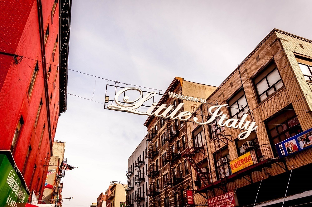 Little Italy sign on Canal Street