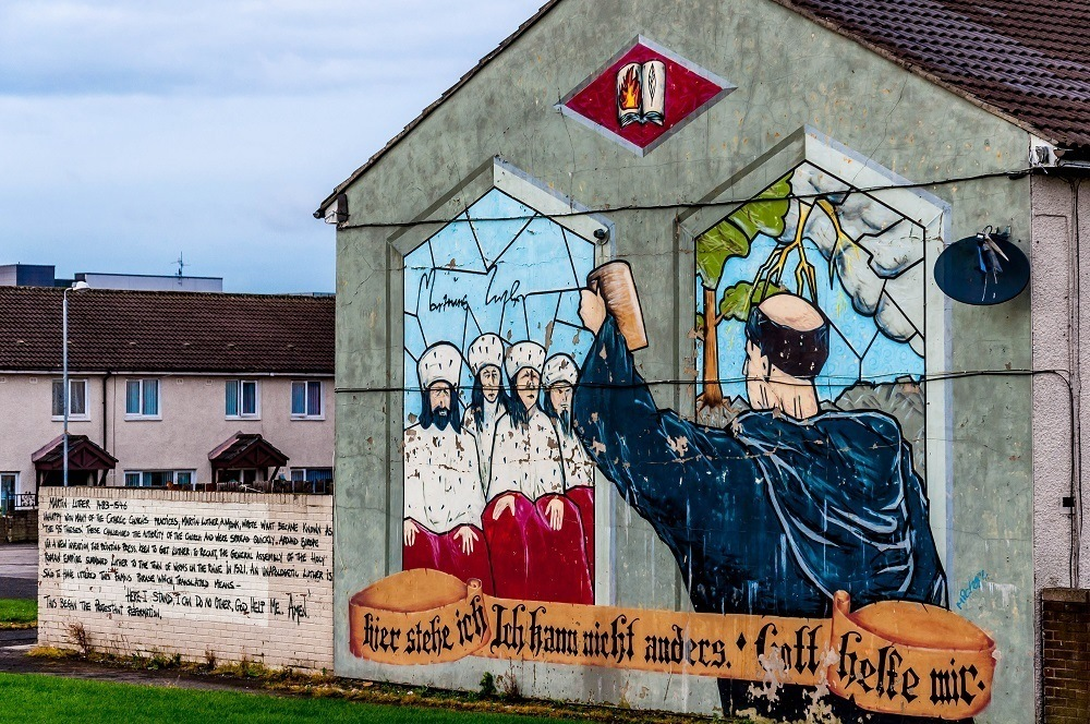 Mural showing Martin Luther, part of a re-imaging project