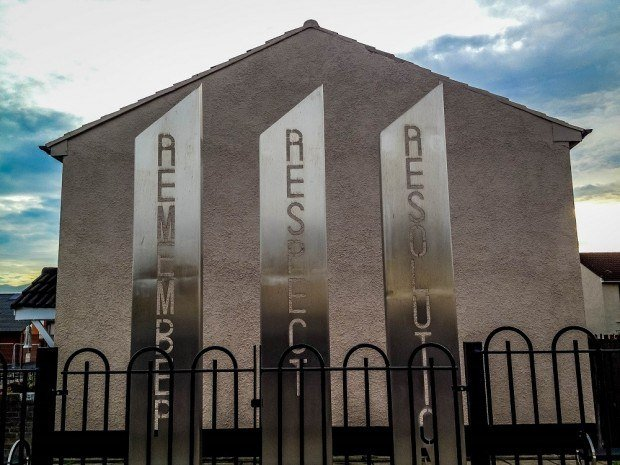 Remember, Respect, Resolution memorial replaces one of the Belfast murals in Shankill